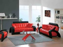 interior decor sofa sets furniture fabulous casual contemporary red bonded leather sofa