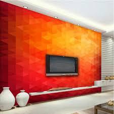d oration chambre peinture 3d mur papier triangle peinture décorative papier peint pour salon