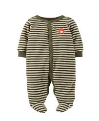 s baby boys striped terry footie baby pajamas baby