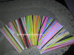 tutorial kerajinan tangan dari kertas gulung paper quilling kerajinan kertas 2011