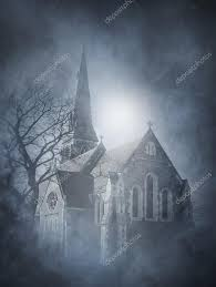halloweenbackground halloween background with ancient church u2014 stock photo shmeljov