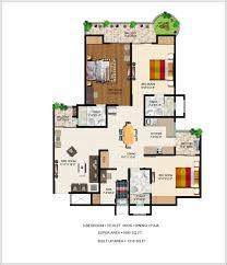 Flat Plan by Ajnara Grand Heritage Floor Plan Sector 74 Noida