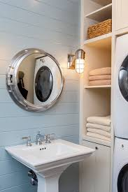 theme mirror porthole mirror bathroom with laundry light blue nautical