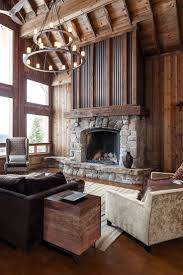 fireplace mantel ideas rustic awesome stone wall exposed painted