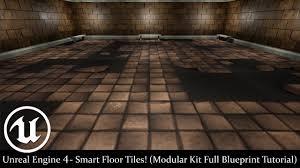 Modular Flooring Tiles Unreal Engine 4 Smart Floor Tiles Modular Kit Full Blueprint
