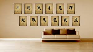 rabbit chinese zodiac character decorative wall art home décor