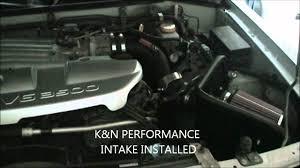 nissan pathfinder engine size nissan pathfinder k u0026n air intake system sound comparison youtube
