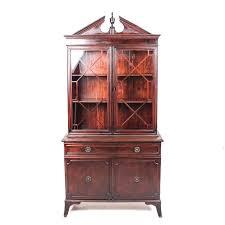 mahogany china cabinet furniture vintage sheraton style flame mahogany china cabinet ebth