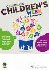 children s posters childrens week wa
