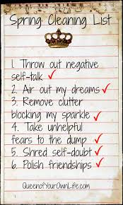happiness spring cleaning list queen of your own life