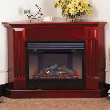 Electric Corner Fireplace Procom Deluxe Electric Corner Fireplace With Remote