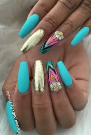 best 25 turquoise acrylic nails ideas on pinterest mint acrylic