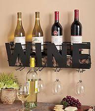 ucpu ltd wine bottle rack cork glass holder wall mounted decor