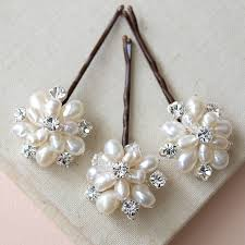 pearl hair pins emily ivory pearl and hair pins set of three by jewellery