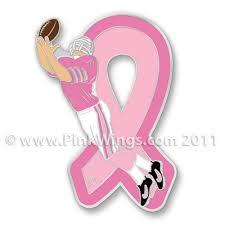 football ribbon football pink ribbon pin