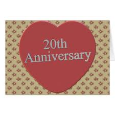 20 Wedding Anniversary Quotes For 20th Wedding Anniversary Greeting Cards Zazzle