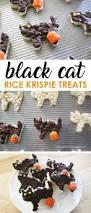 dark chocolate halloween rice krispie treats