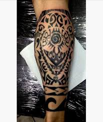 maori leg calf tattoo design real photo pictures images and