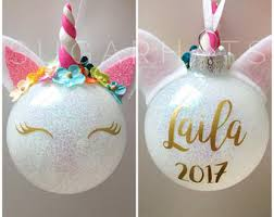 Blank Ornaments To Personalize Unicorn Ornament
