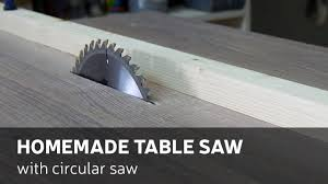 can you use a table saw as a jointer how to make a homemade table saw with circular saw youtube