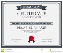 certificate with wax seal template stock vector image 83045887