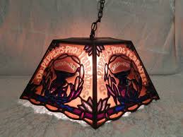 stained glass swag lamp rustic lighting wolf flush mount ceiling