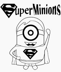 superman clipart minion pencil color superman clipart minion