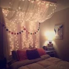 Make A Magical Bed Canopy With Lights Canopy Fairy And Bedrooms