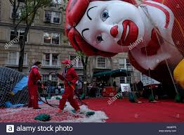new york ny a ronald mcdonald balloon gets inflated in