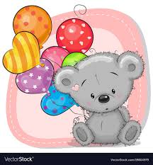 teddy balloons teddy with balloons royalty free vector