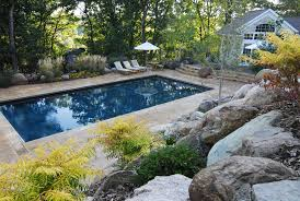 inspirations backyard landscaping with rectangular pool and