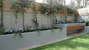 articicial grass trellis hardwood painted fence dulwich peckham