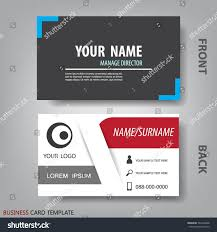 black white business name card template stock vector 767266348