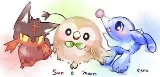 sun and moon s starters already so much fanart