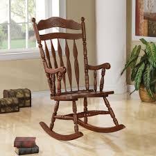 Comfortable Rocking Chairs Coaster Furniture 600187 Rocking Chair Dark Walnut