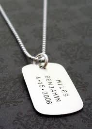 engraved dog tags for men dog tag necklace in sterling silver medium dog tag