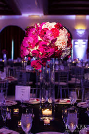 reception centerpieces 10 pink fuschia white wedding reception centerpieces