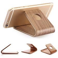 support t hone portable bureau universel en bois support de téléphone mobile stand de téléphone