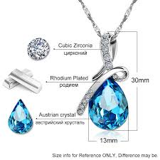 crystals fashion necklace images Fashion necklaces pendants crystals blue crystal water drop jpg