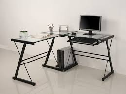 Modern Bureau Desks by Glass Computer Desk Modern Desks Metal Glass Computer Desk With