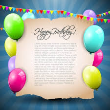 colorful balloons happy birthday greeting cards background free