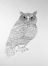zentangle owlowl art bird artzentangle birdzentangle