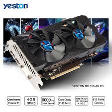 ordinateur de bureau jeux yeston radeon rx 550 gpu 4 gb gddr5 128bit jeux d ordinateur de