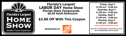 florida s largest home shows turner expositions home show discount coupon