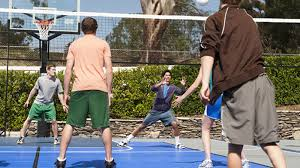 Basketball Court In The Backyard Home Sport Court South Carolina Backyard Basketball Court