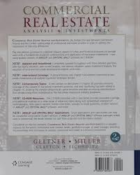 commercial real estate analysis and investments with cd rom