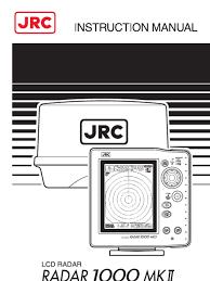 jrc radar 1000mkii instruction manual pdf radar