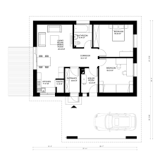 two bedroom house designs and floor plans for free