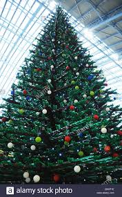 a christmas tree built entirely of lego bricks on display at st