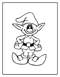 cartoon christmas elf coloring